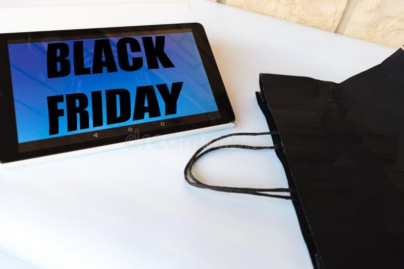 Concept d'achats de Black Friday image stock