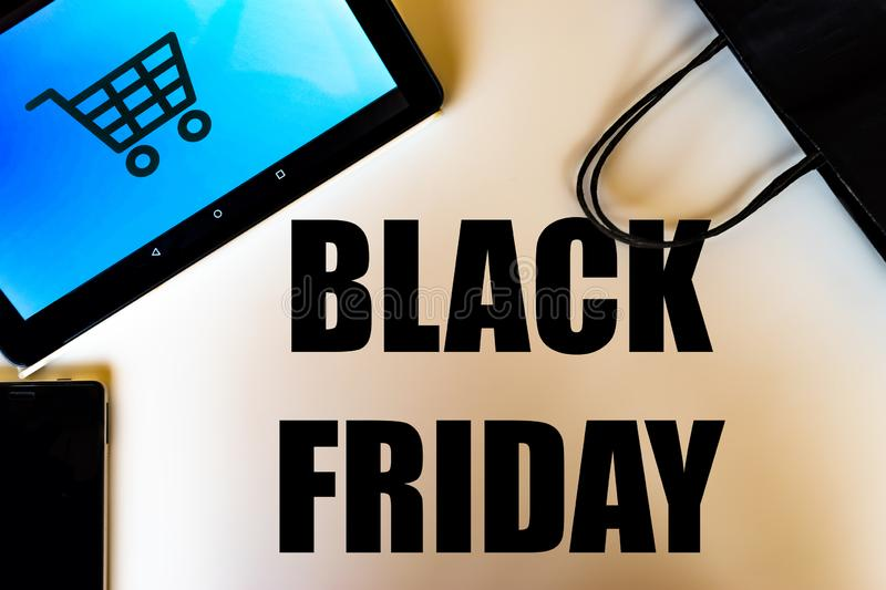 Concept d'achats de Black Friday photo stock