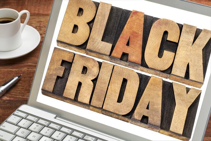 Concept d'achats de Black Friday image libre de droits