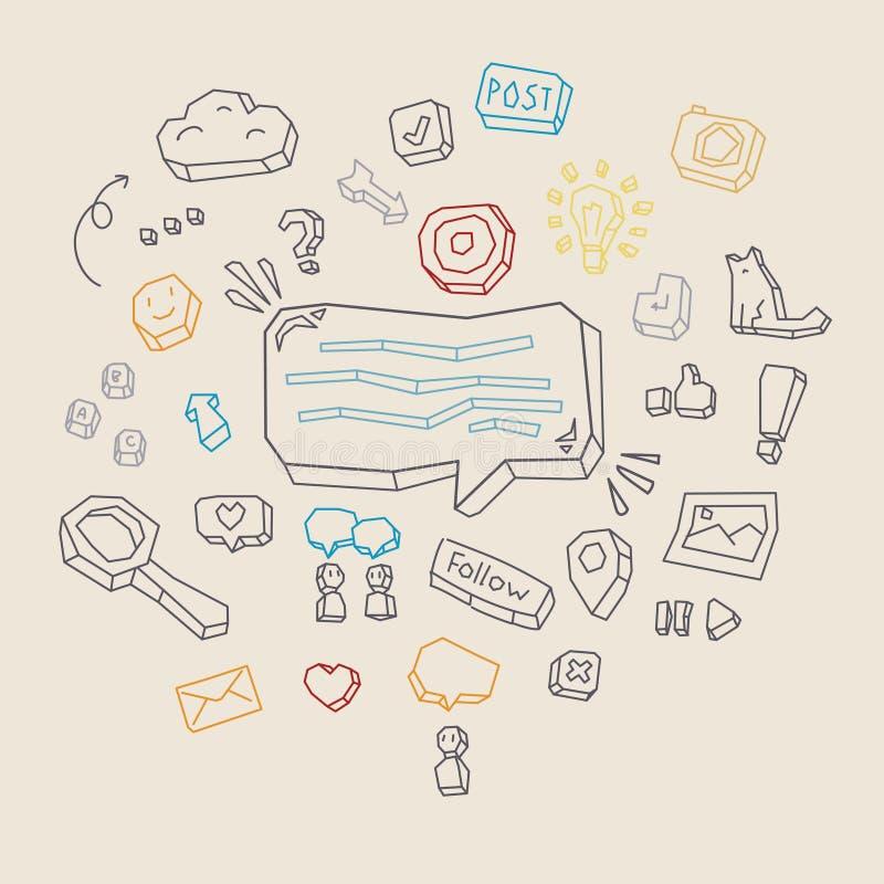 Concept d'activité sociale de réseau illustration libre de droits