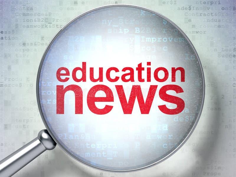 Concept d'actualités : Actualités d'éducation avec le verre optique photo libre de droits