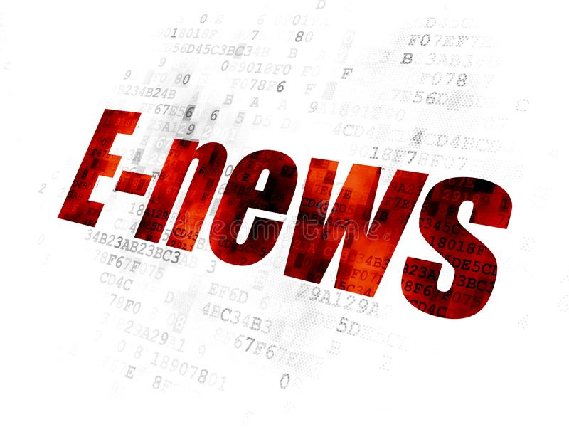 Concept d'actualités : E-actualités sur le fond de Digital illustration de vecteur