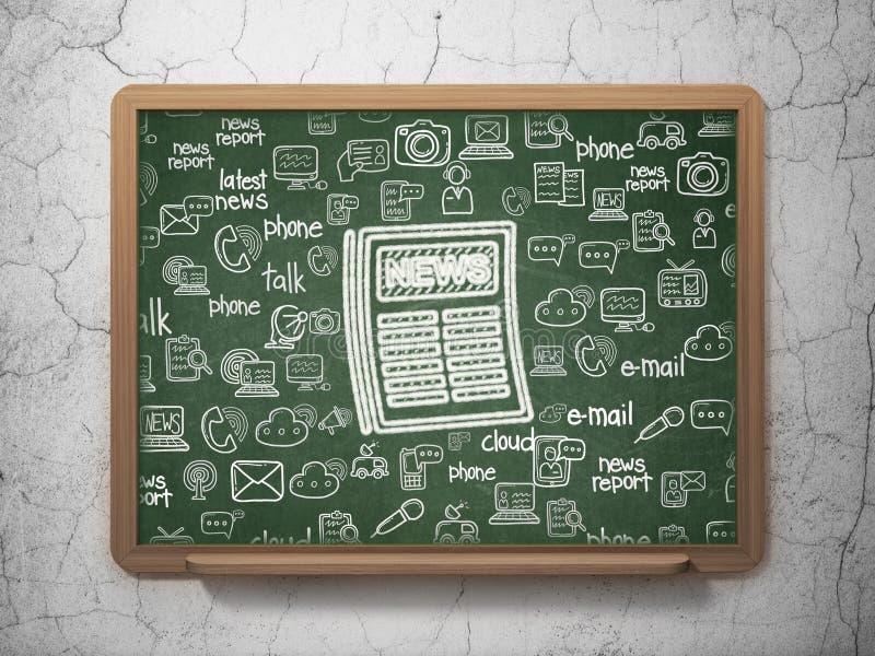 Concept d'actualités : Journal sur le fond de conseil pédagogique illustration stock