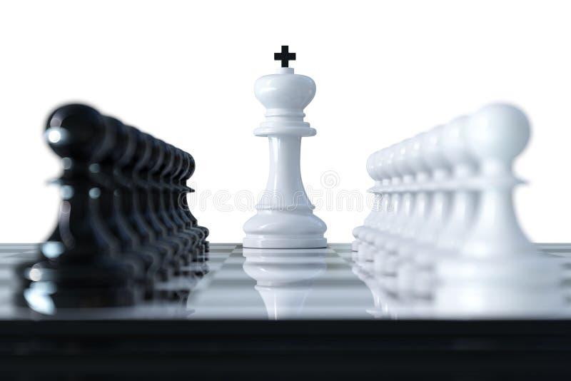 Concept d'affaires d'échecs illustration libre de droits