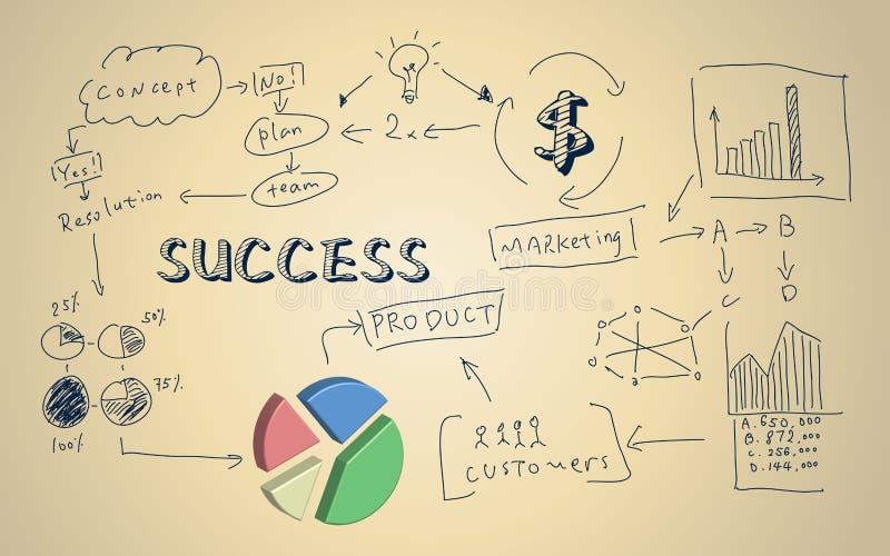 Concept d'affaires avec le graphique 3d circulaire illustration libre de droits