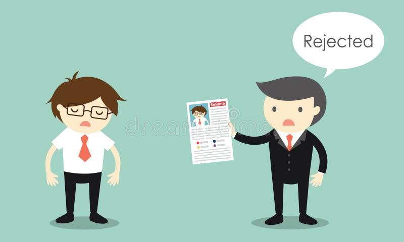 Concept d'affaires, Businessman& x27 ; le résumé de s est rejeté illustration libre de droits