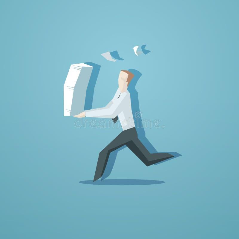 Concept d'affaires - commis courant avec des documents illustration stock