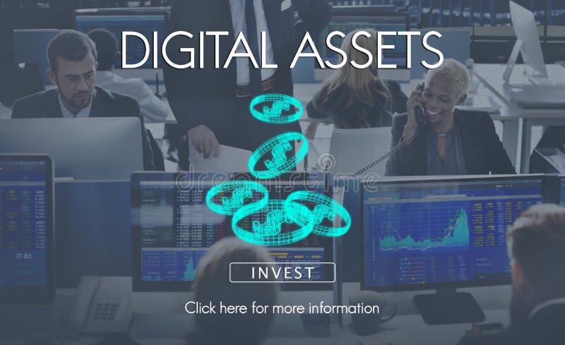 Concept d'affaires d'argent de finances de capitaux de Digital photo libre de droits