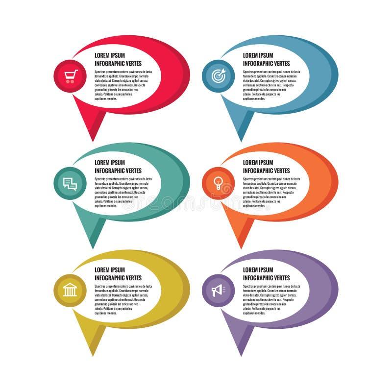 Concept d'affaires d'Infographic - bannières colorées de vecteur Descripteur d'Infographic Les graphismes de vecteur ont placé Él illustration stock