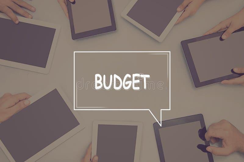 Concept d'affaires de CONCEPT de BUDGET image stock