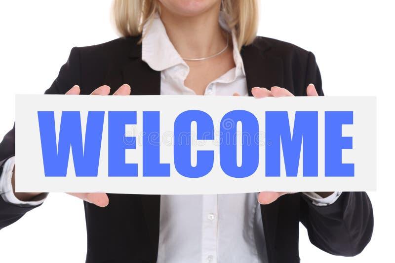 Concept d'affaires de femme d'affaires avec l'emplo bienvenu de personnel des employés photos libres de droits