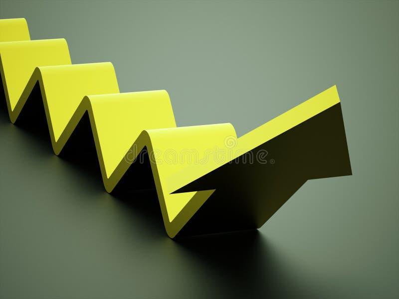 Concept d'affaires de flèche d'escalier rendu illustration de vecteur