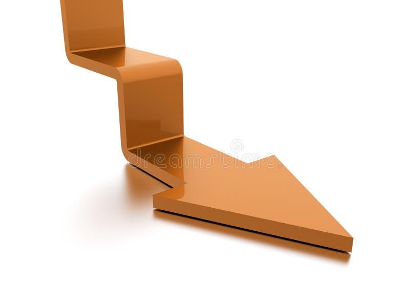Concept d'affaires de flèche d'escalier rendu image stock