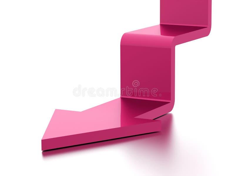 Concept d'affaires de flèche d'escalier rendu images libres de droits