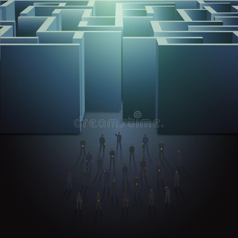 Concept d'affaires de labyrinthe illustration libre de droits