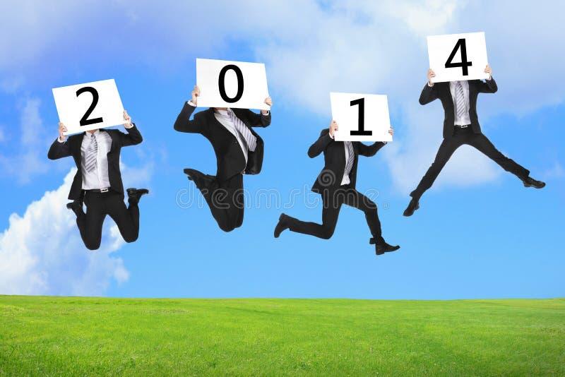 concept d'affaires de nouvelle année 2014 photographie stock
