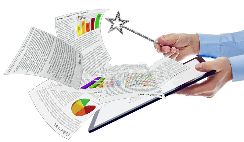 Concept d'affaires de productivité image stock