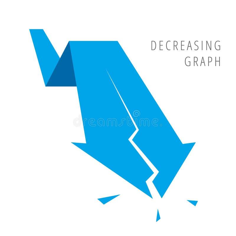 Concept 4 d'affaires de récession illustration de vecteur