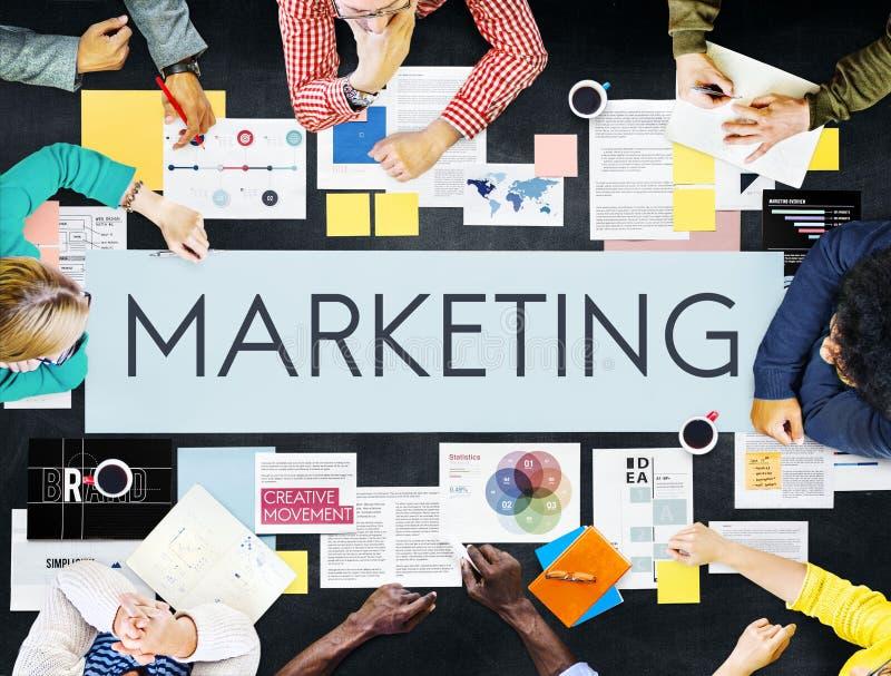 Concept d'affaires de stratégie marketing de document images libres de droits