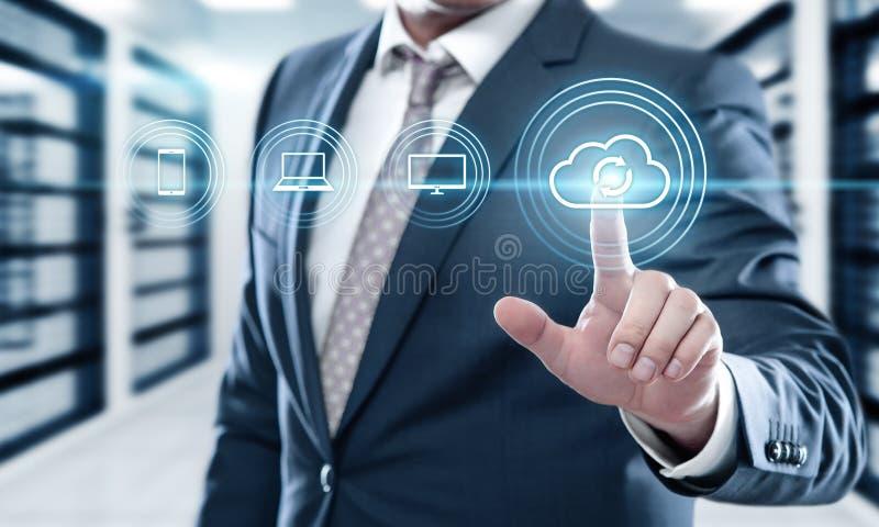 Concept d'affaires de technologie d'Internet de données de stockage de sauvegarde image libre de droits