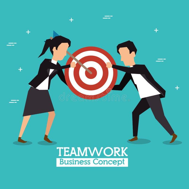 Concept d'affaires de travail d'équipe illustration stock