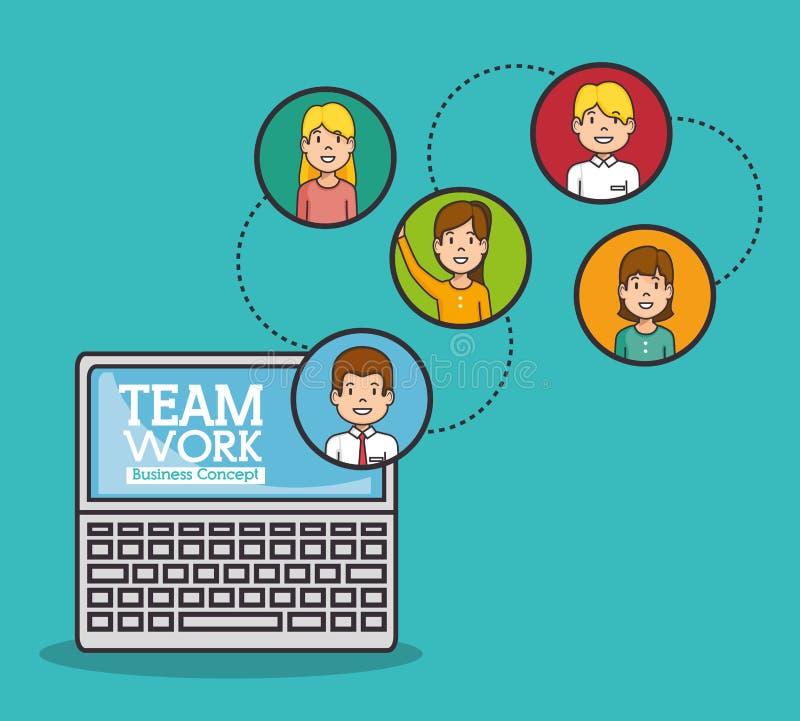 Concept d'affaires de travail d'équipe illustration libre de droits