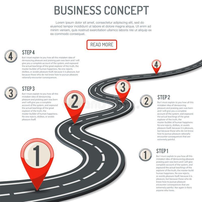 Concept d'affaires et de progrès illustration de vecteur