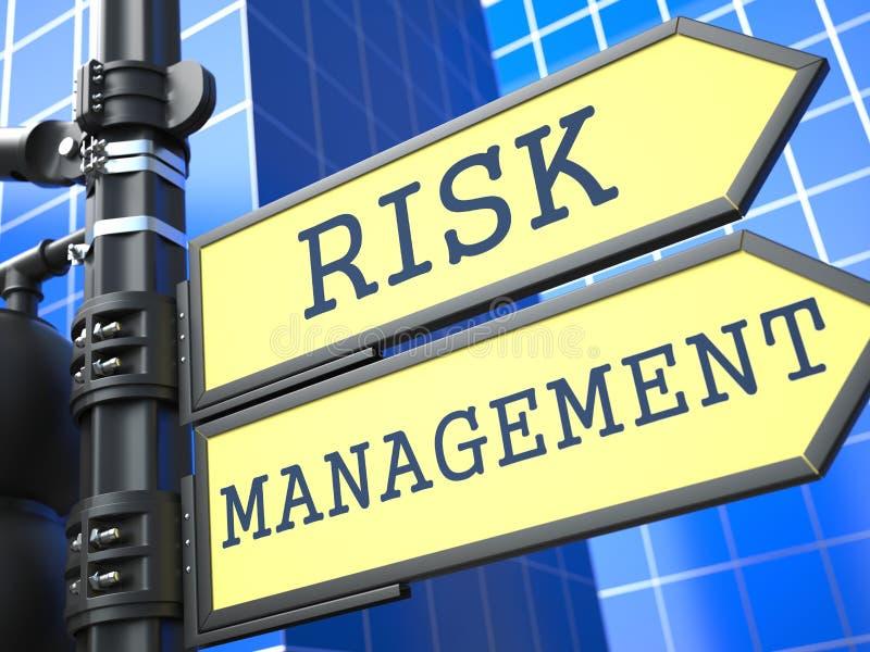 Concept d'affaires. Gestion des risques Roadsign. illustration de vecteur