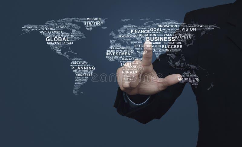 Concept d'affaires globales, éléments de cette image meublés par NAS photo libre de droits
