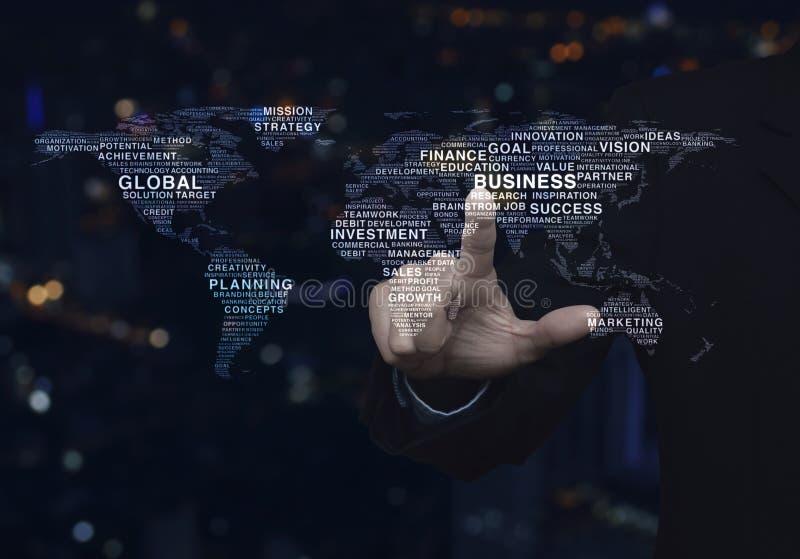 Concept d'affaires globales, éléments de cette image meublés par NAS photos stock