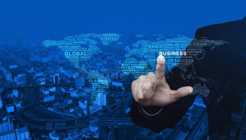 Concept d'affaires globales, éléments de cette image meublés par NAS image stock