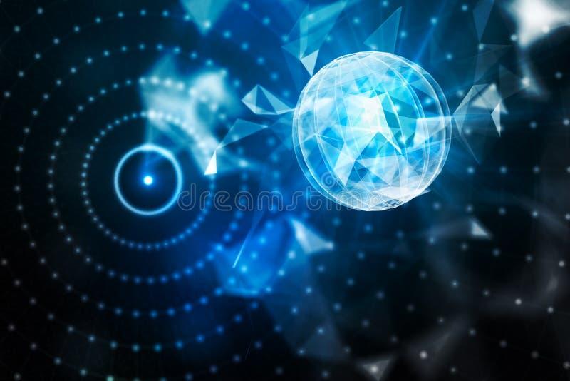 Concept d'affaires globales et d'innovation illustration de vecteur