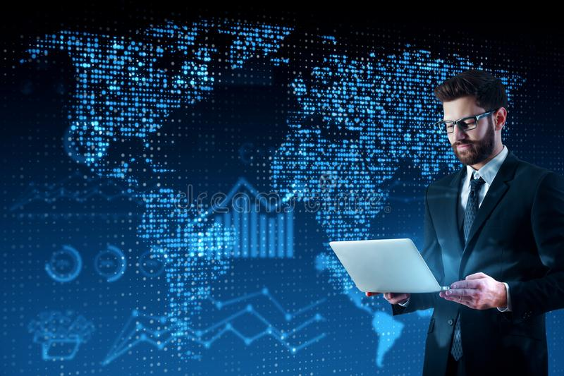 Concept d'affaires globales et d'innovation photo stock