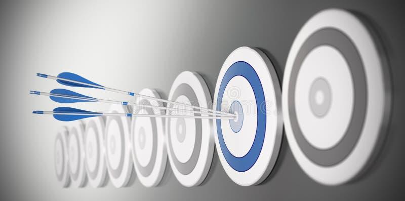 Concept d'affaires, peformance illustration stock