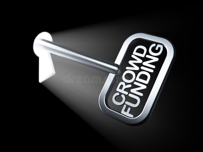 Concept d'affaires : Placement de foule sur la clé illustration de vecteur