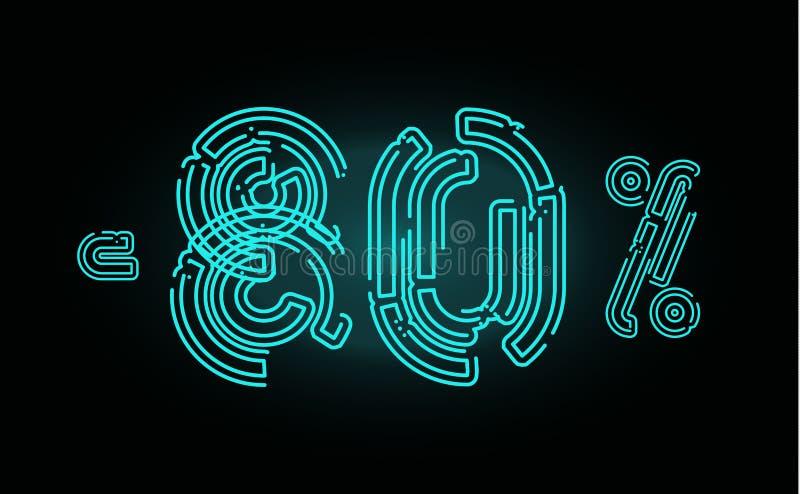 Concept d'affiche de 80 ventes Calibre de conception de bannière de remise de quatre-vingts pour cent pour la commercialisation,  illustration stock