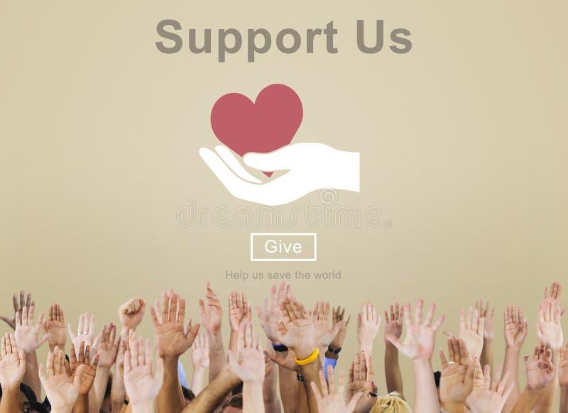 Concept d'aide de coopération de la Communauté de soutien illustration de vecteur