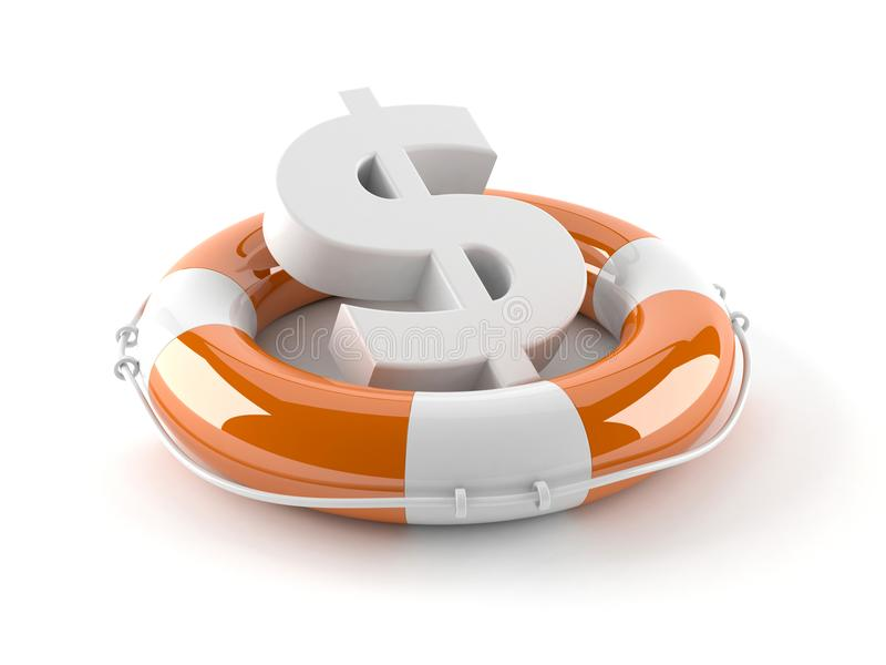 Concept d'aide du dollar illustration stock