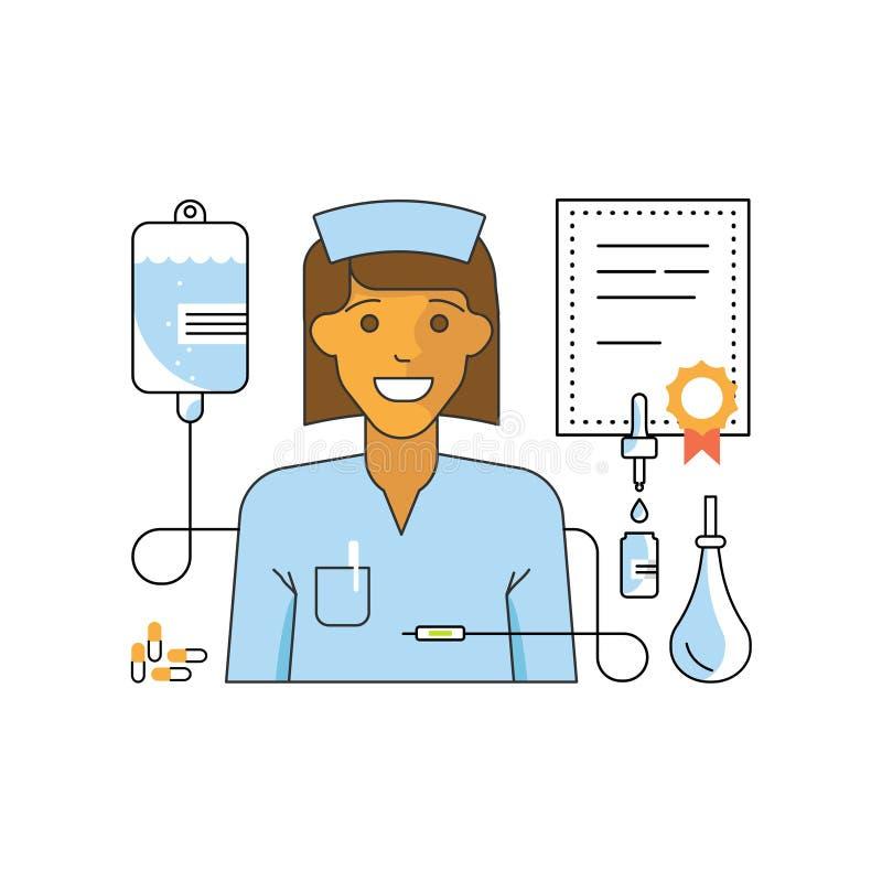 Concept d'aide médicale illustration stock