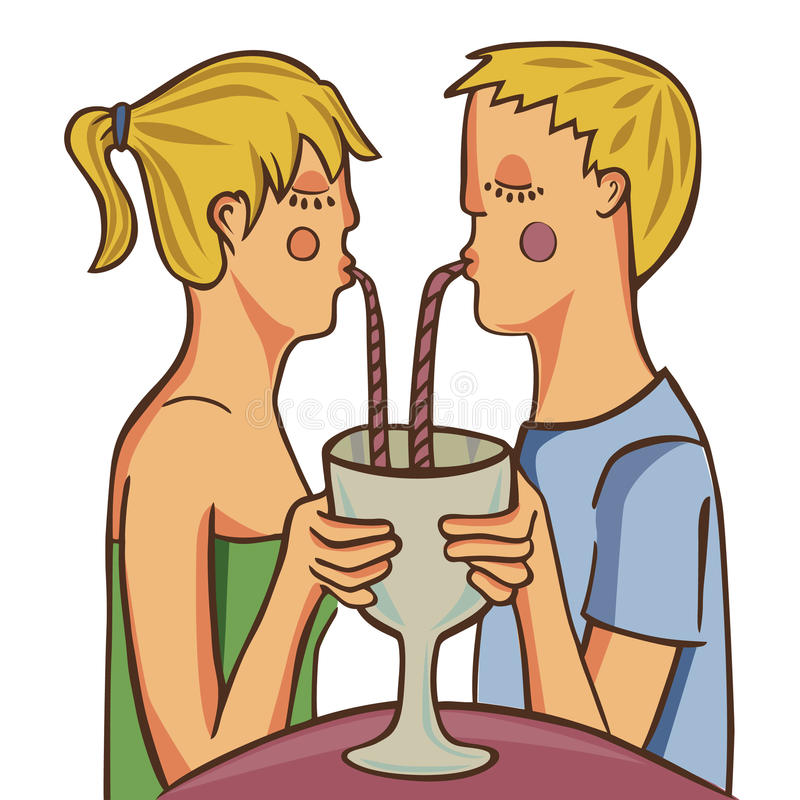 Concept d'amour de couples illustration libre de droits