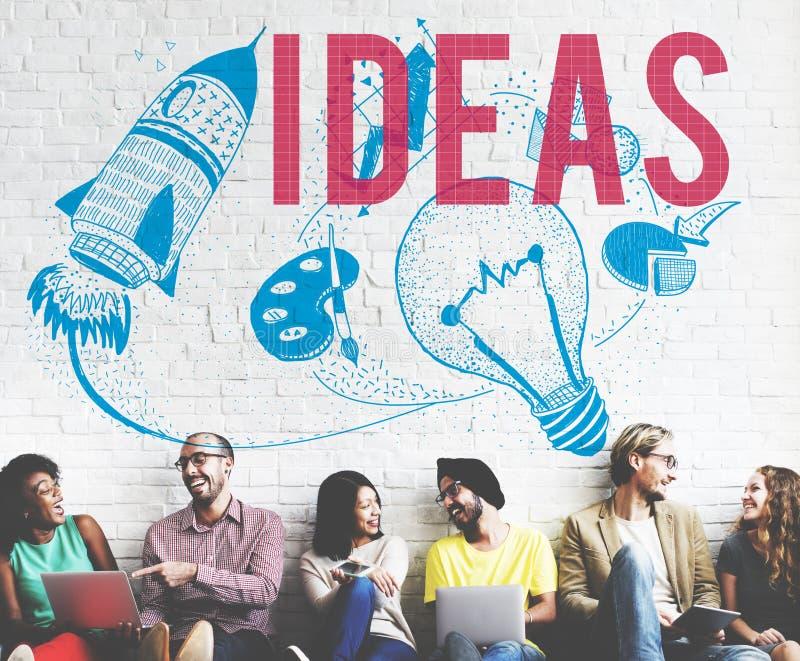 Concept d'ampoule d'imagination de créativité d'idées photo libre de droits
