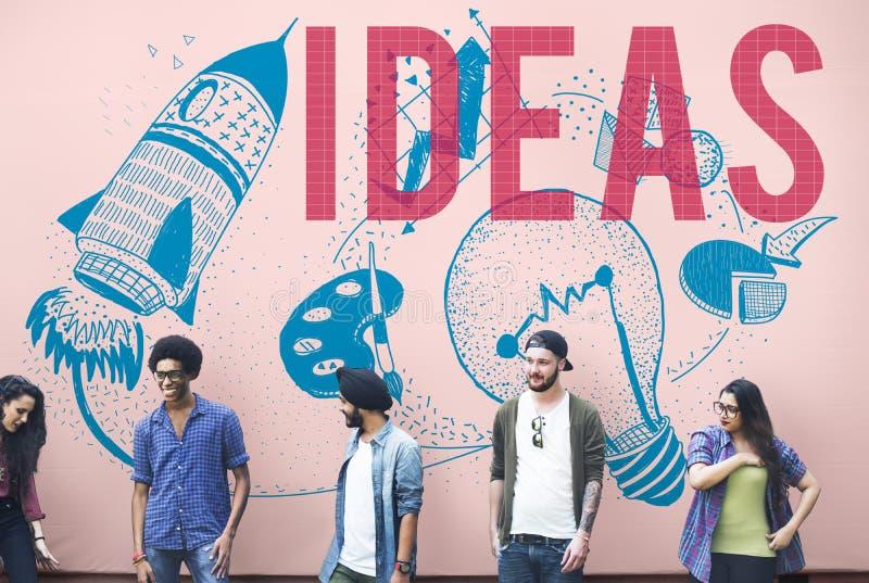Concept d'ampoule d'imagination de créativité d'idées photos stock
