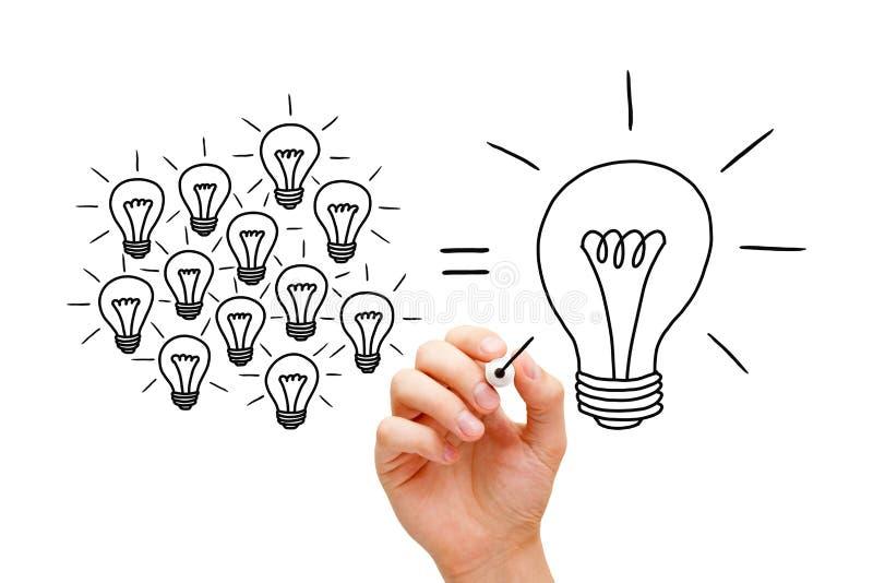Concept d'ampoules de travail d'équipe