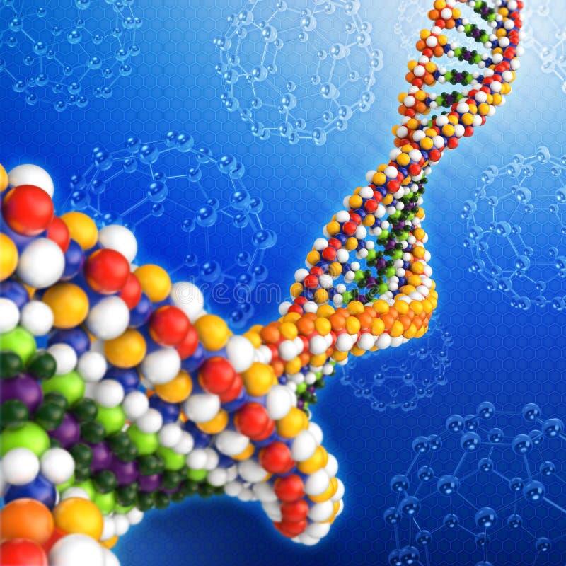 Concept d'analyse d'ADN illustration de vecteur