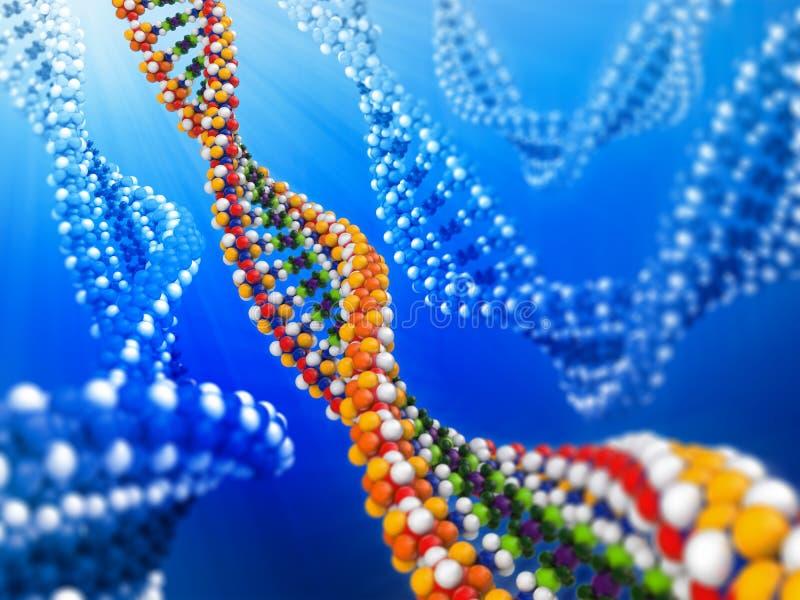 Concept d'analyse d'ADN illustration stock