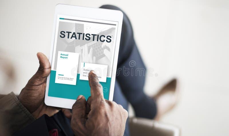 Concept d'analyse de données de recherches de statistique de résultats image libre de droits
