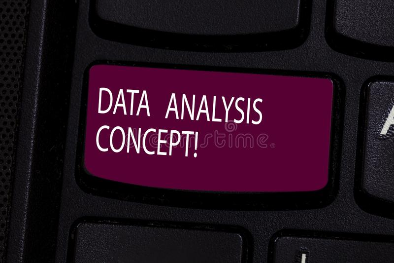 Concept d'analyse de données des textes d'écriture Données de évaluation de signification de concept utilisant le clavier de moti photo libre de droits