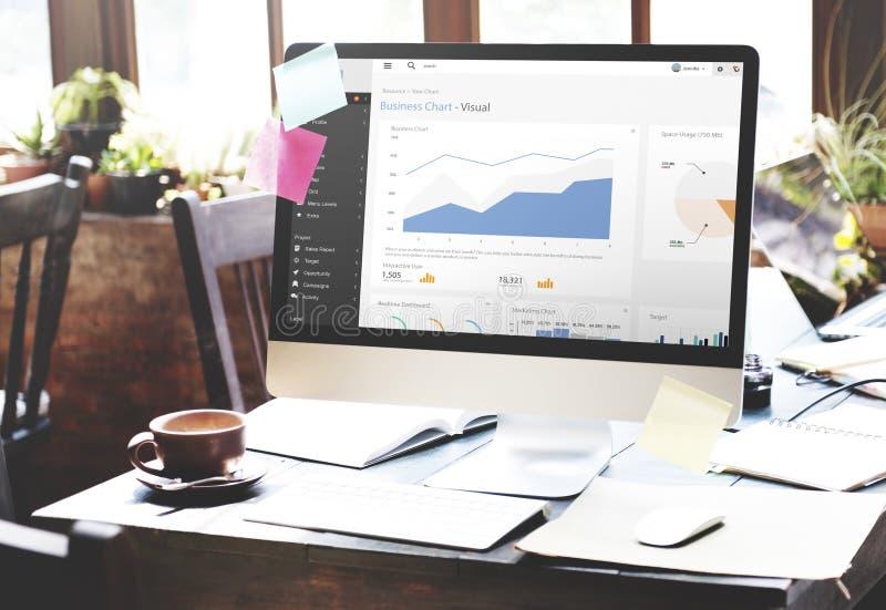 Concept d'analyse de Palnning de statistique de rapport de graphique de gestion photo stock