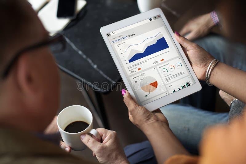 Concept d'analyse de Palnning de statistique de rapport de graphique de gestion images libres de droits