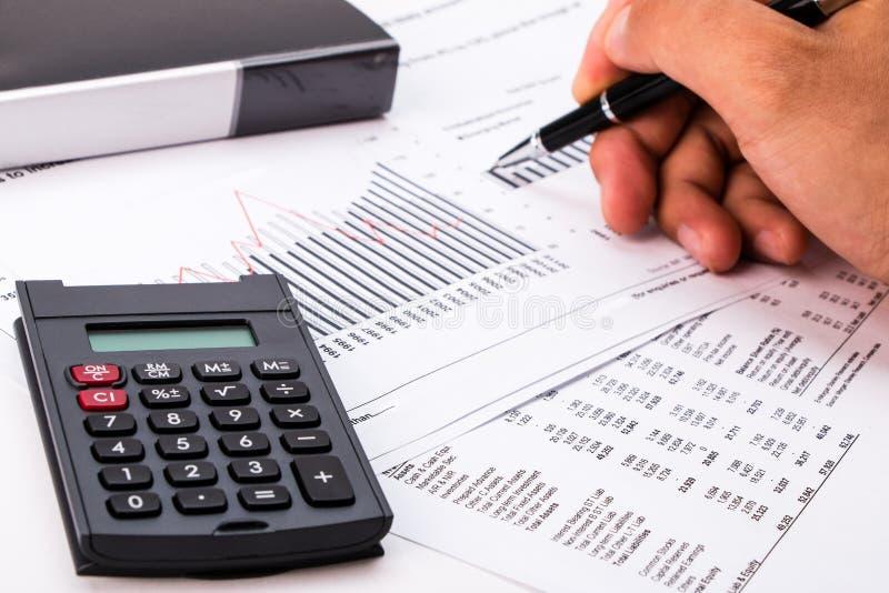 Concept d'analyse financière photos stock